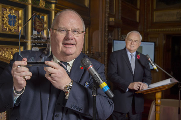 Eric Pickles - Conservative MP of the Year 2014 - Patchwork Foun