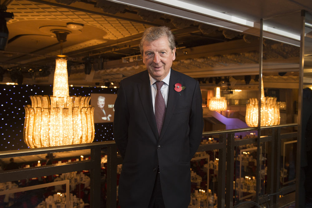 Roy Hodgson, manager of the England Football Team, is guest of honour at the PFA (Professional Footballers' Association) annual lunch at the Grosvenor House Hotel, Park Lane, London UK.